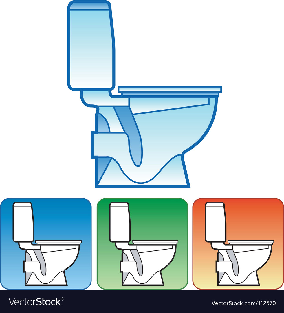 Toilet bowl on color background vector | Price: 1 Credit (USD $1)