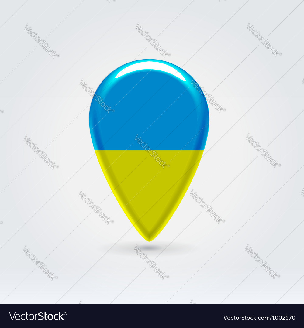 Ukrainian icon point for map vector | Price:  Credit (USD $)