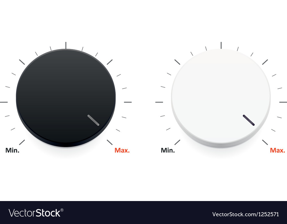 A set of a black and white volume controls vector | Price: 1 Credit (USD $1)