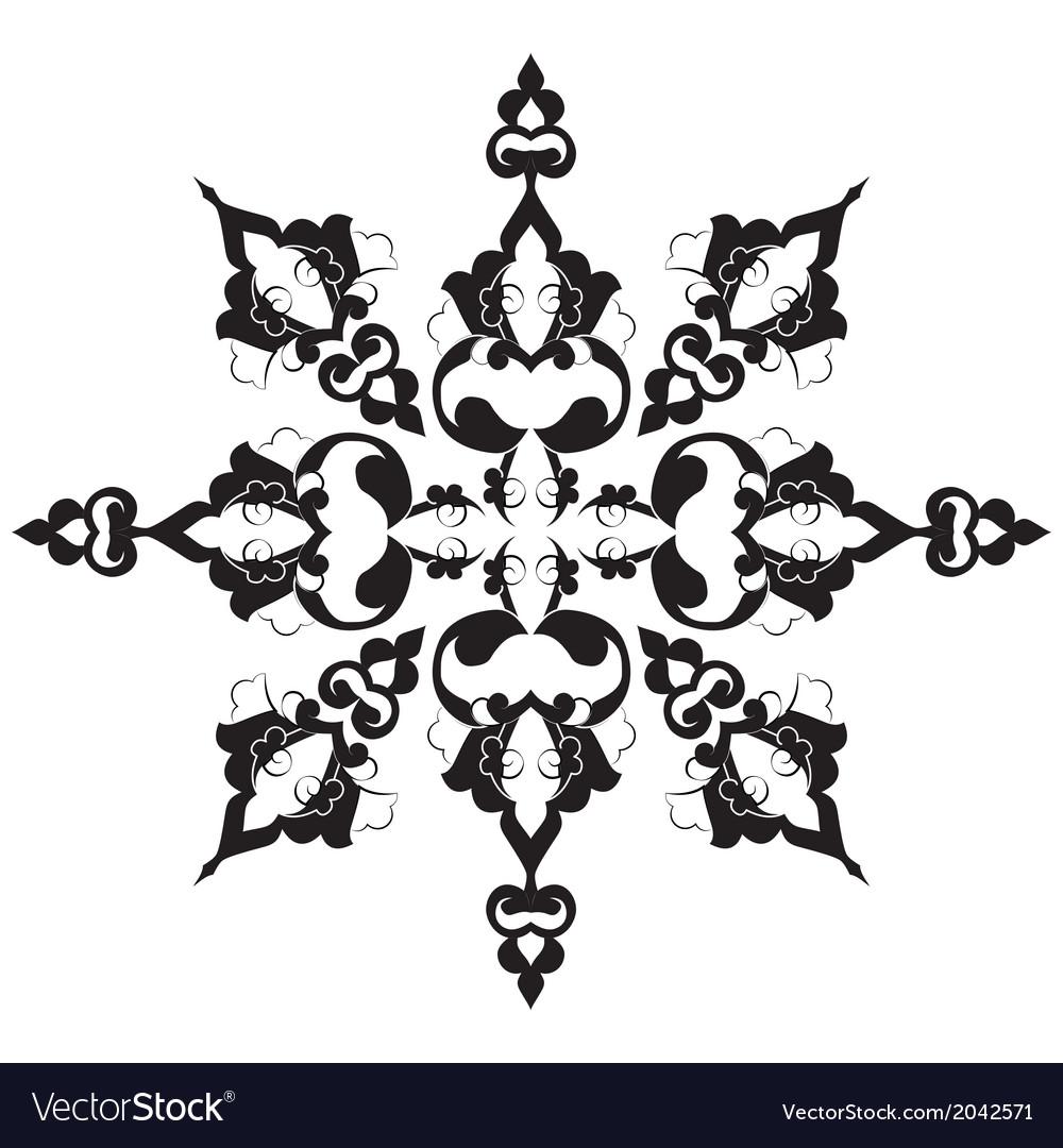 Black oriental ottoman design twenty nine vector | Price: 1 Credit (USD $1)