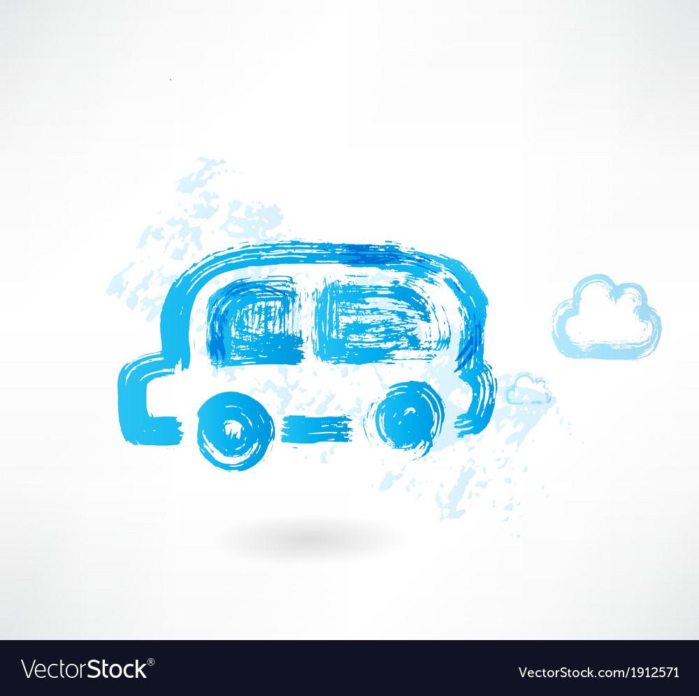 Bus grunge icon vector | Price: 1 Credit (USD $1)