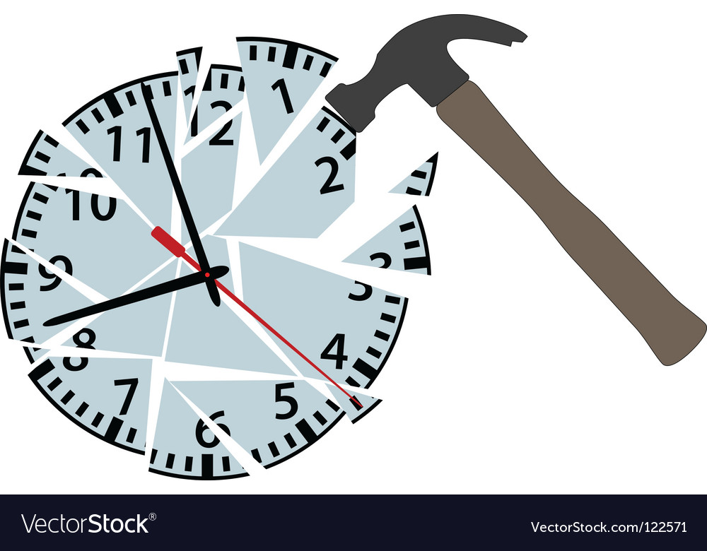 Clock pieces vector | Price: 1 Credit (USD $1)