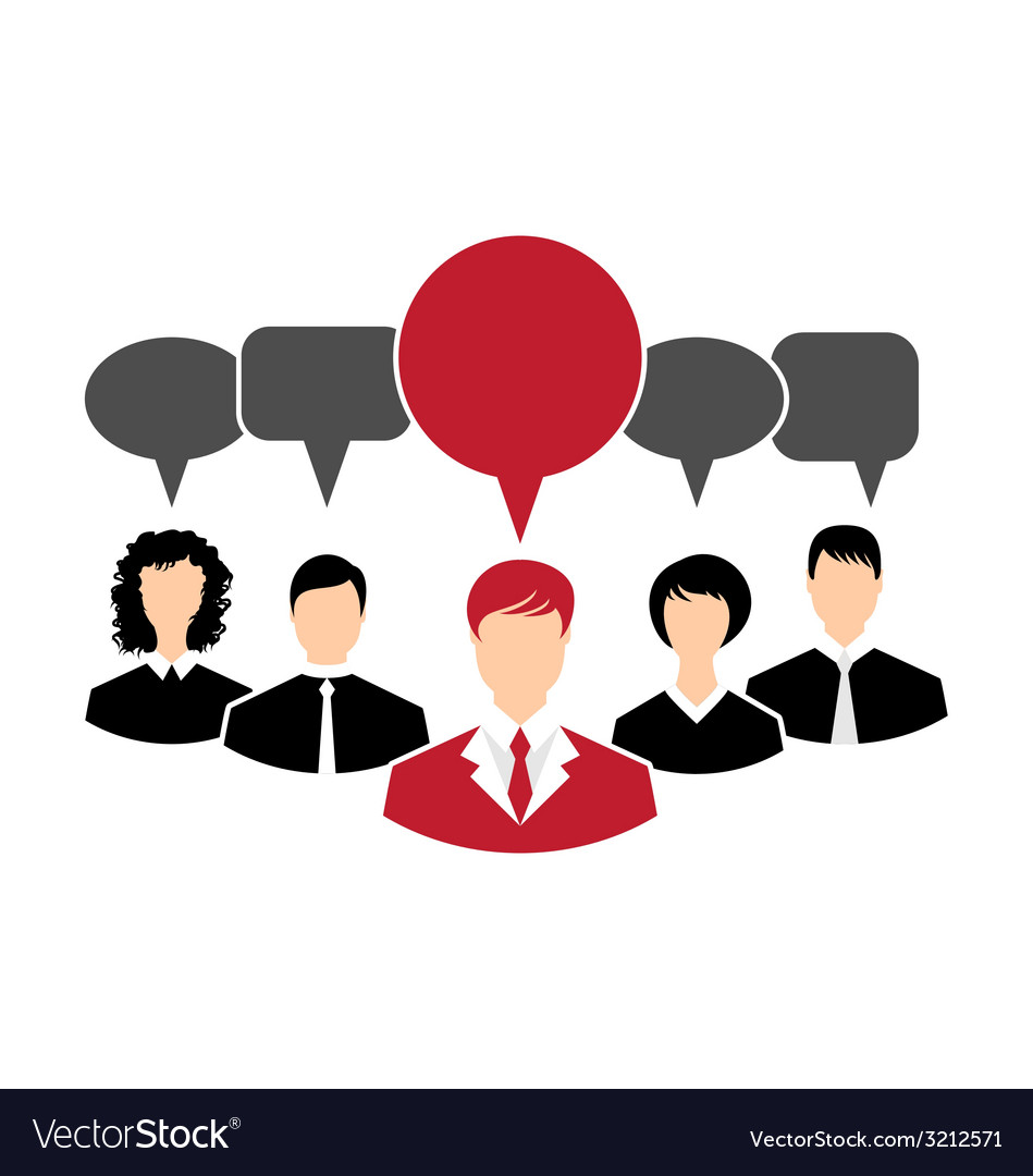 Concept of leadership dialog speech bubbles - vector | Price: 1 Credit (USD $1)