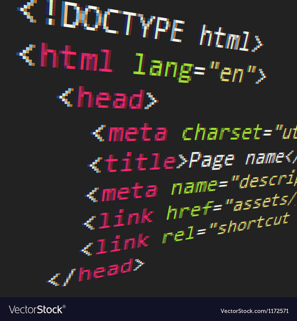 Css and html code vector | Price: 1 Credit (USD $1)
