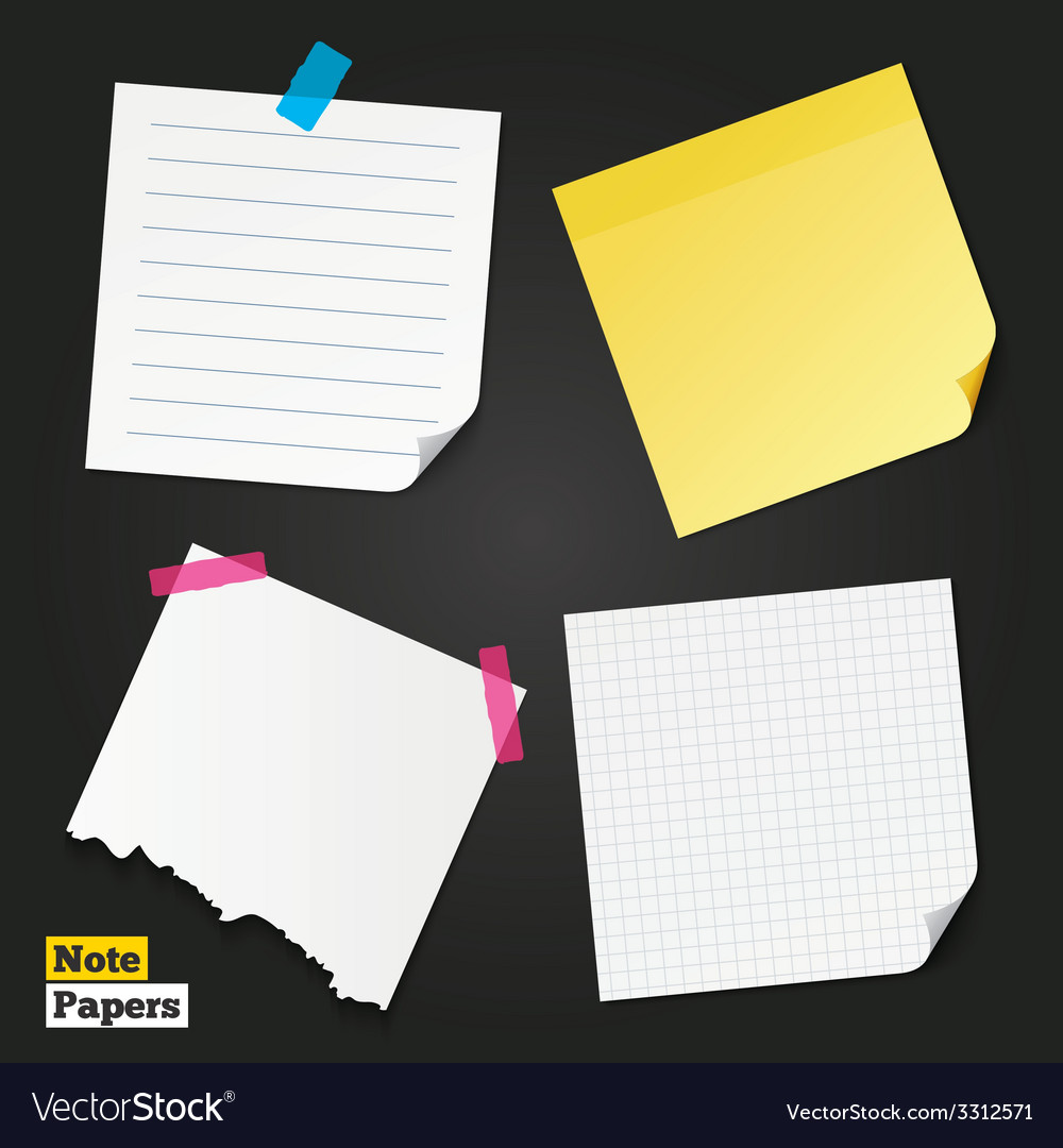 Different note papers and stickers vector | Price: 1 Credit (USD $1)