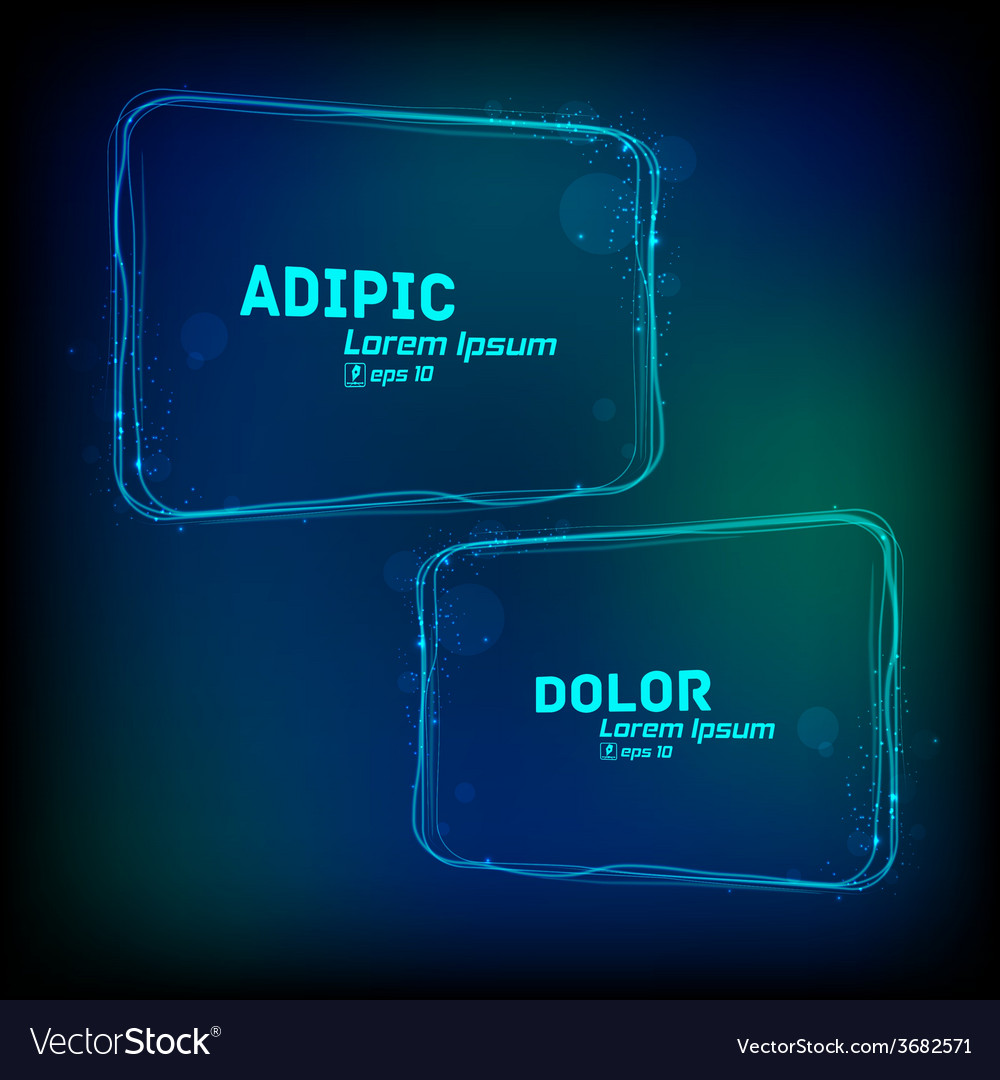 Glowing frames against dark background vector | Price: 1 Credit (USD $1)