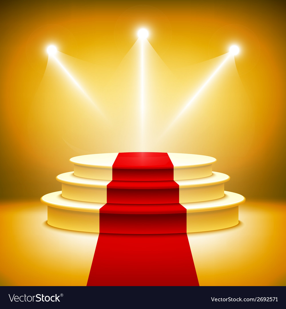 Illuminated stage podium vector | Price: 1 Credit (USD $1)