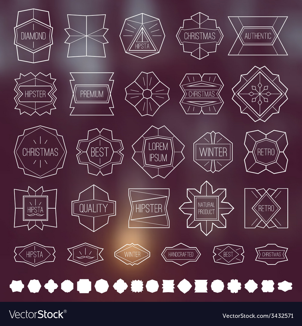 Labels and design elements vector | Price: 1 Credit (USD $1)
