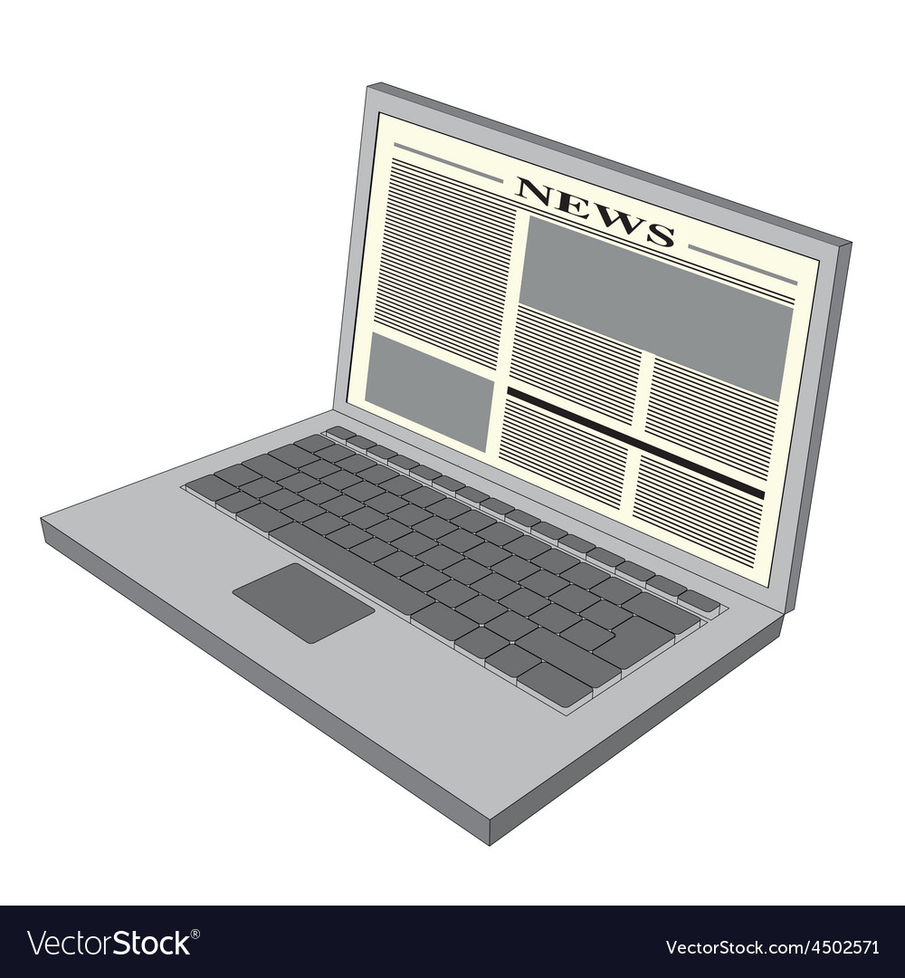 Laptop news vector | Price: 1 Credit (USD $1)
