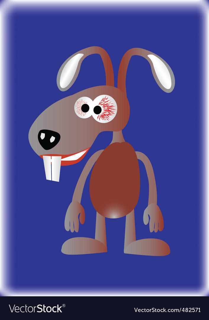 Mad rabbit vector   Price: 1 Credit (USD $1)