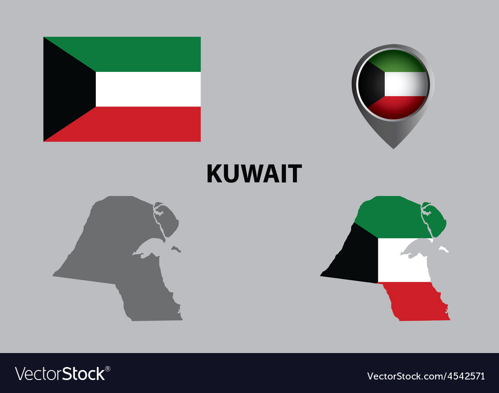 Map of kuwait and symbol vector | Price: 1 Credit (USD $1)