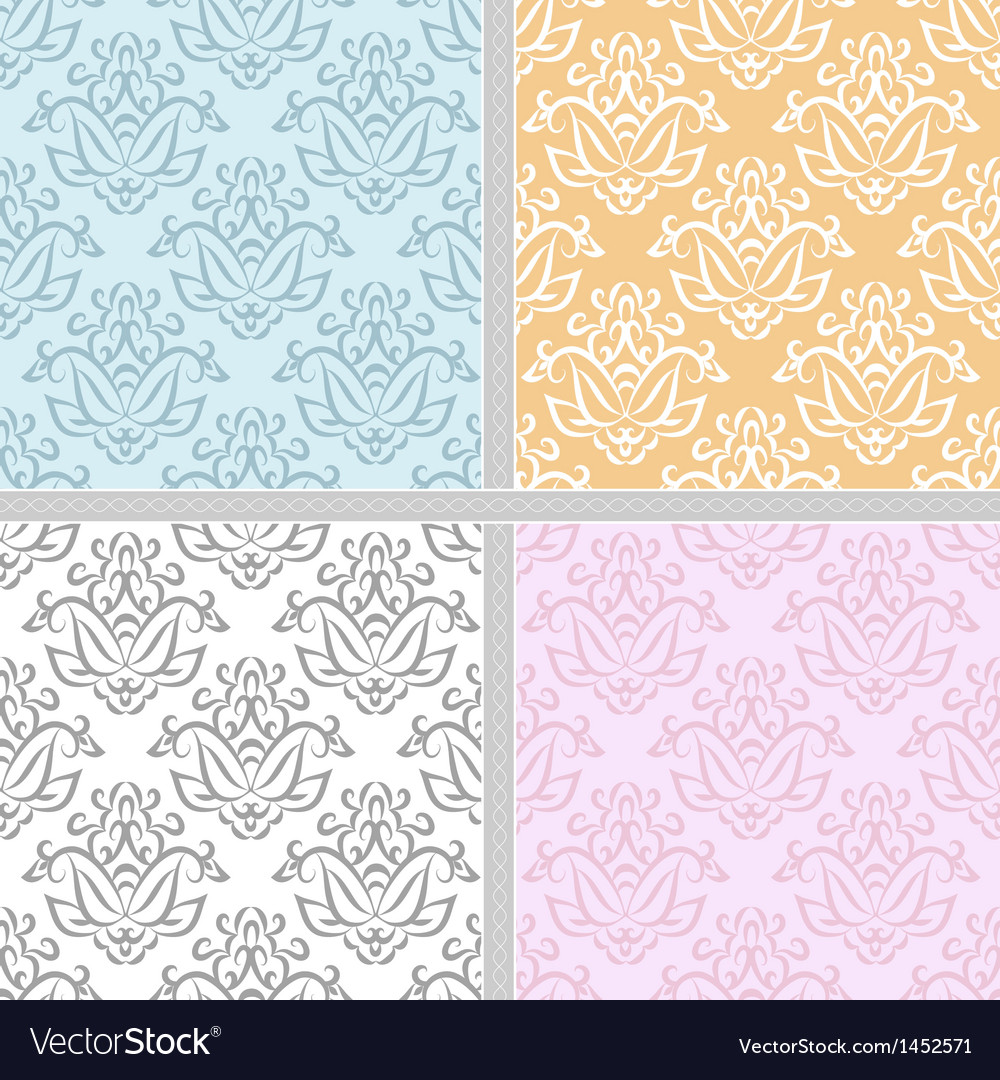 Seamless ethnic damask pattern vector | Price: 1 Credit (USD $1)