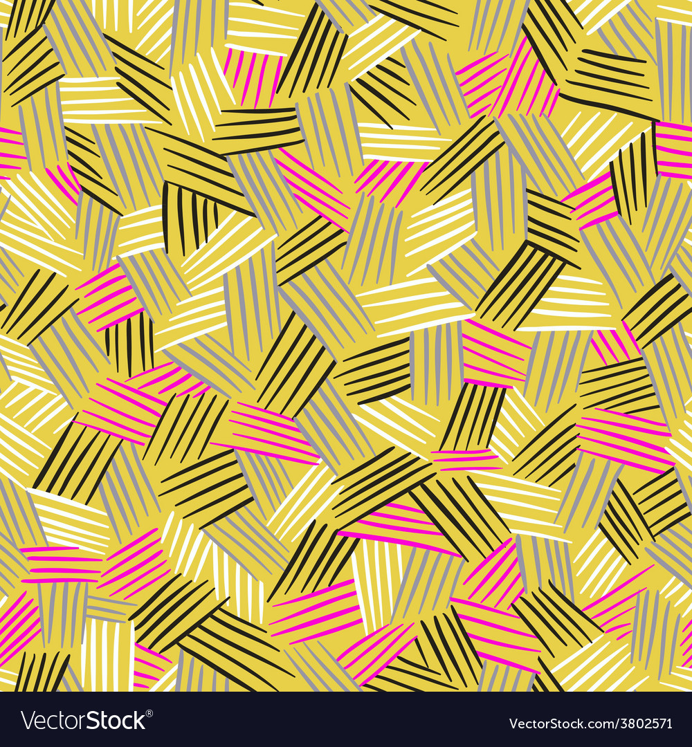 Seamless pattern with hand drawn lines traditional vector | Price: 1 Credit (USD $1)