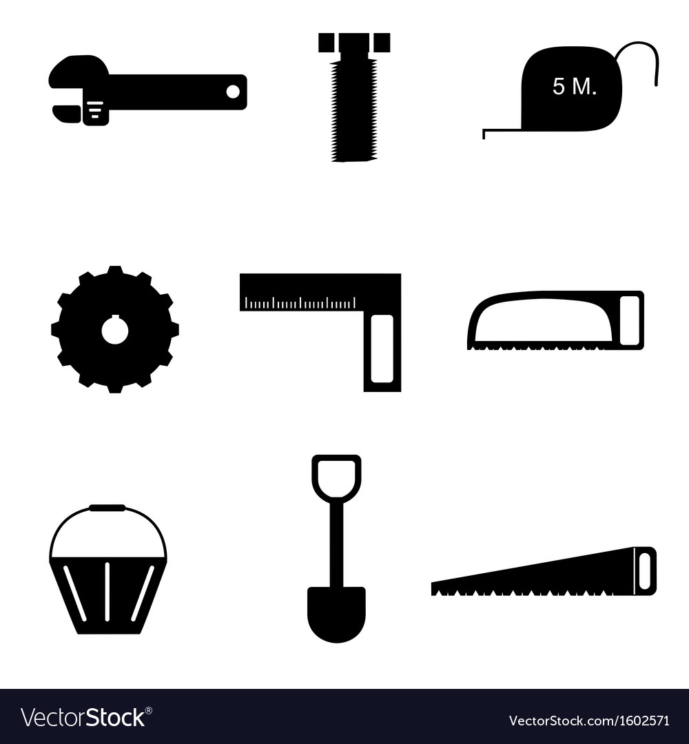 Tools icon set vector | Price: 1 Credit (USD $1)