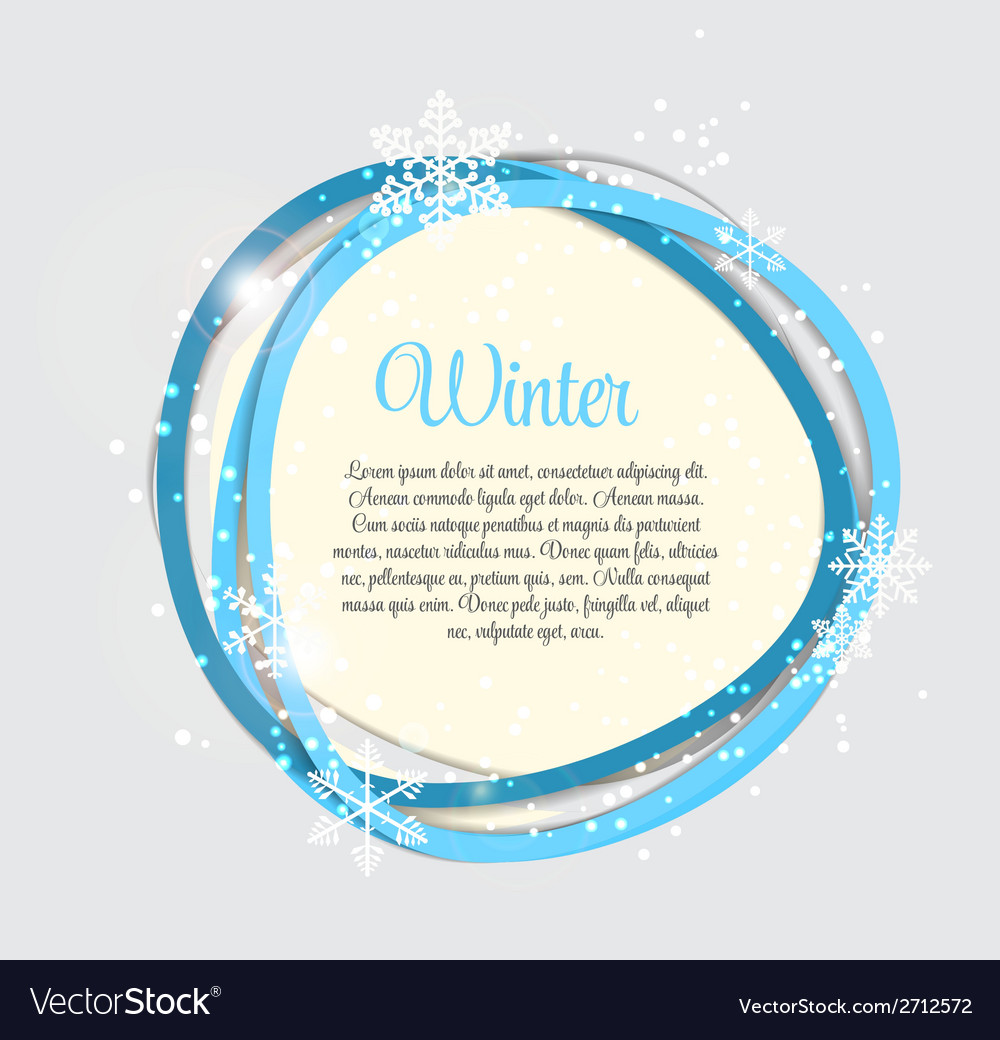 Abstract beauty winter background vector | Price: 1 Credit (USD $1)