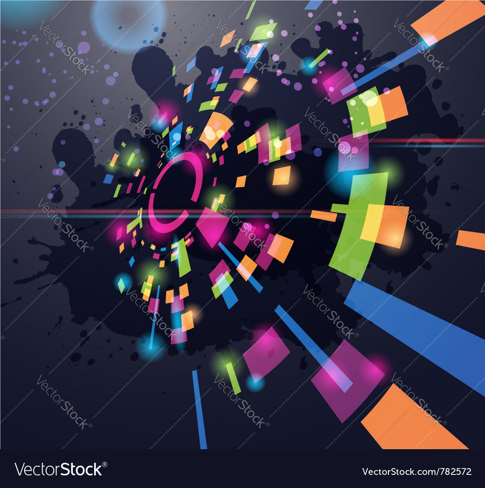 Abstract perspective circle background vector | Price: 1 Credit (USD $1)