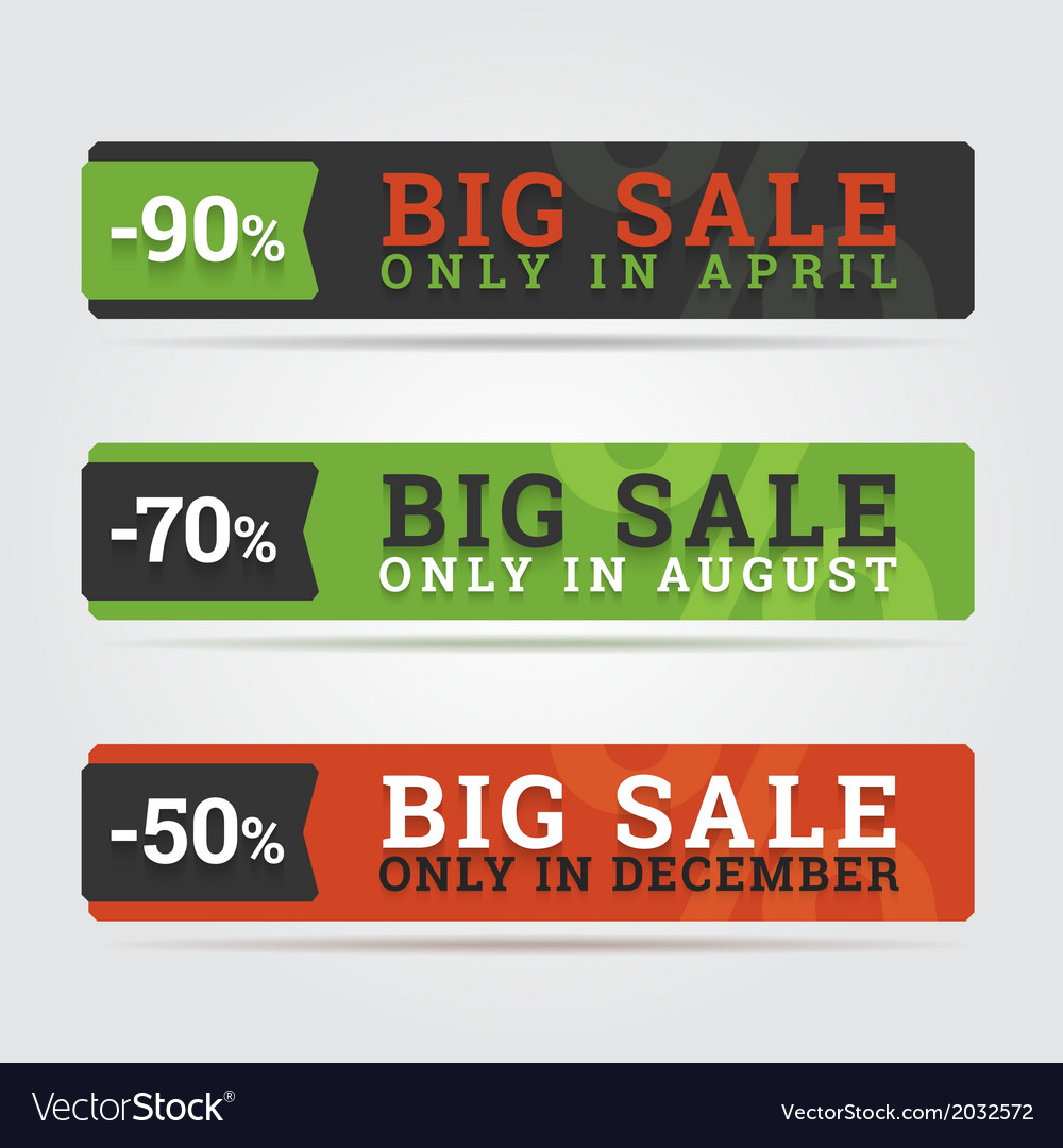Big sale banners vector | Price: 1 Credit (USD $1)