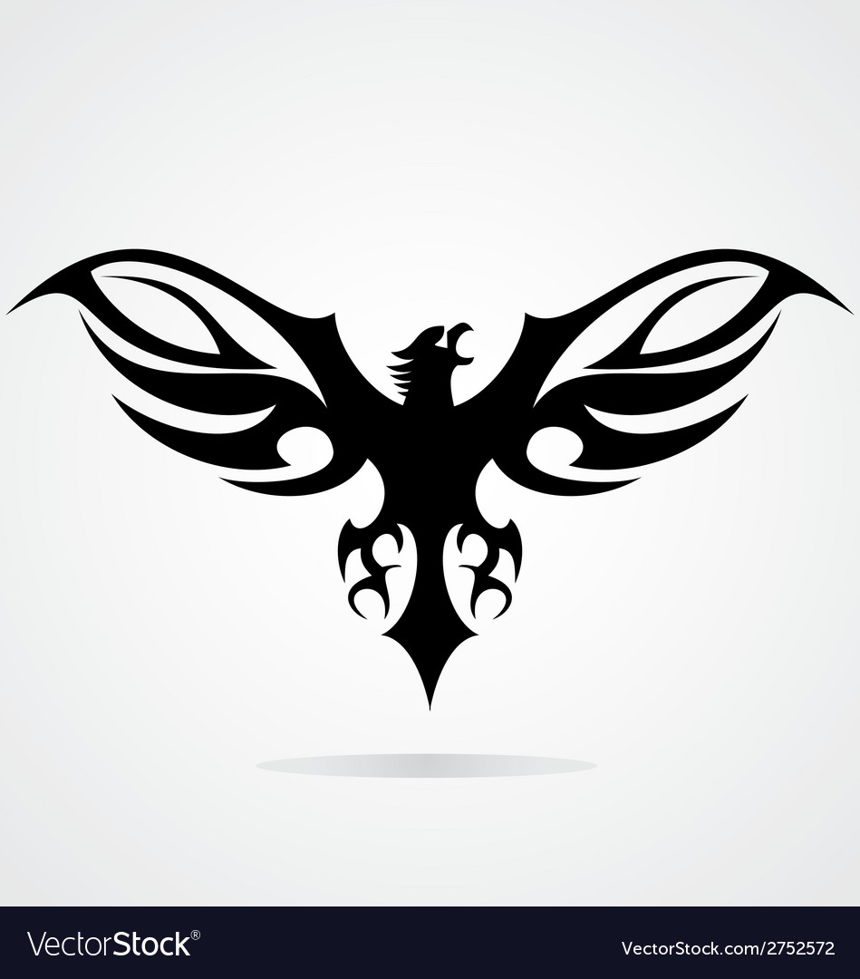 Black eagle tribal vector | Price: 1 Credit (USD $1)