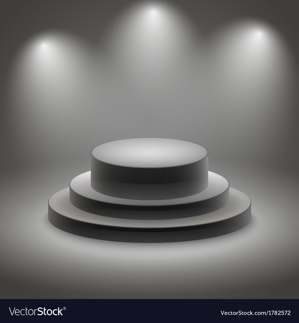 Black empty illuminated podium vector | Price: 1 Credit (USD $1)