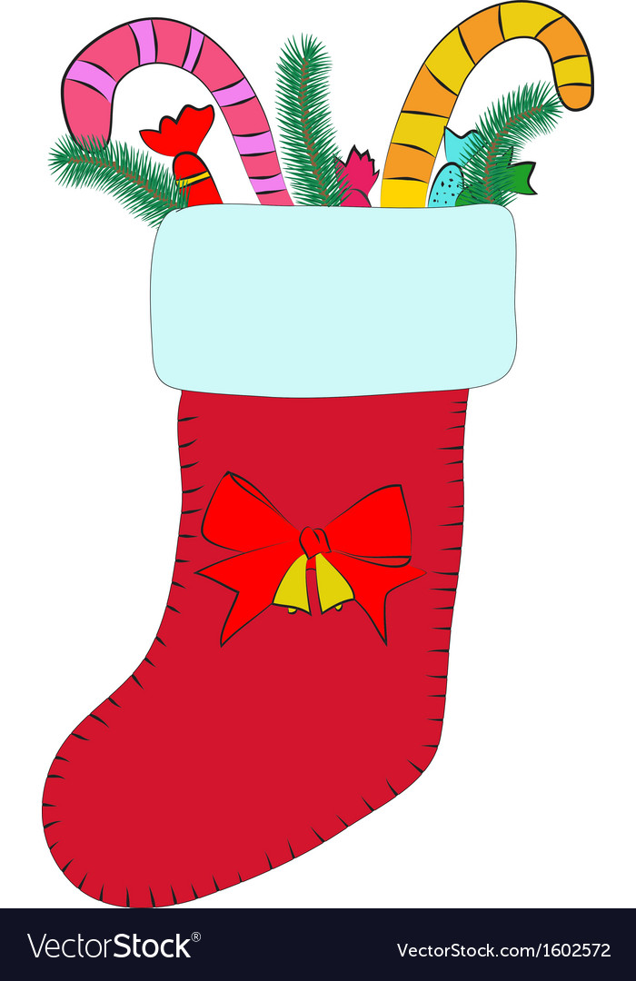 Christmas stocking vector | Price: 1 Credit (USD $1)