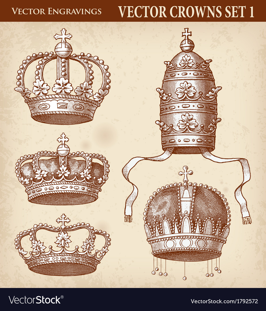 Crown set 01 vector | Price: 1 Credit (USD $1)