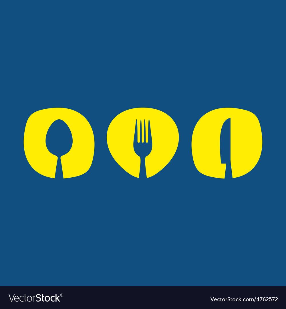 Cutlery symbols vector | Price: 1 Credit (USD $1)