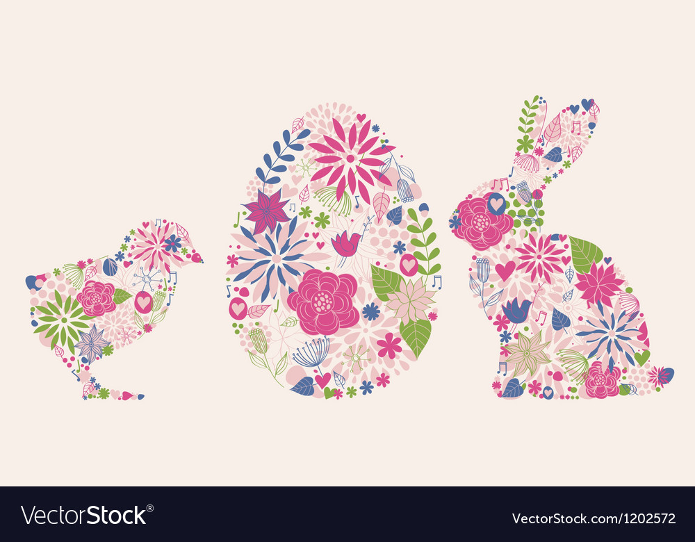 Easter elements vector | Price: 1 Credit (USD $1)