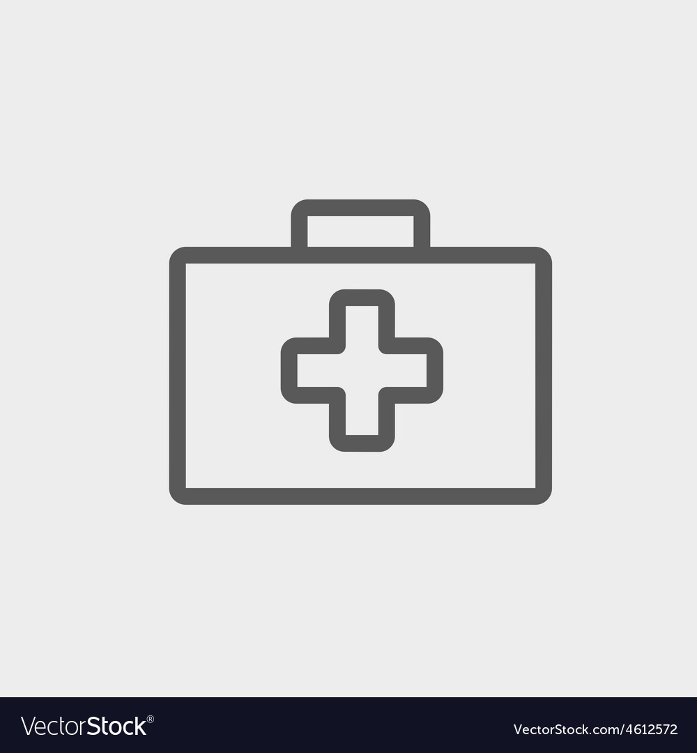 First aid kit thin line icon vector | Price: 1 Credit (USD $1)