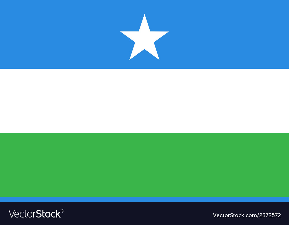 Flag of puntland vector | Price: 1 Credit (USD $1)
