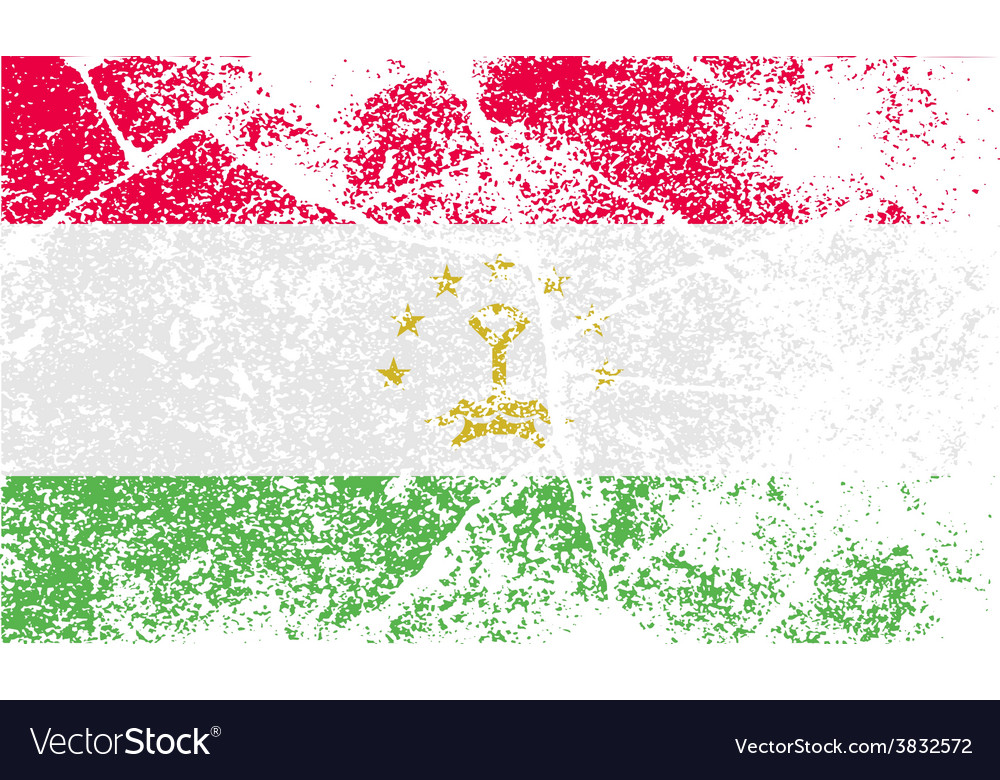 Flag of tajikistan with old texture vector | Price: 1 Credit (USD $1)