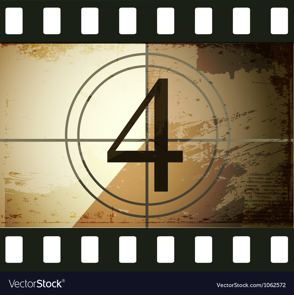 Grunge film countdown vector | Price: 1 Credit (USD $1)