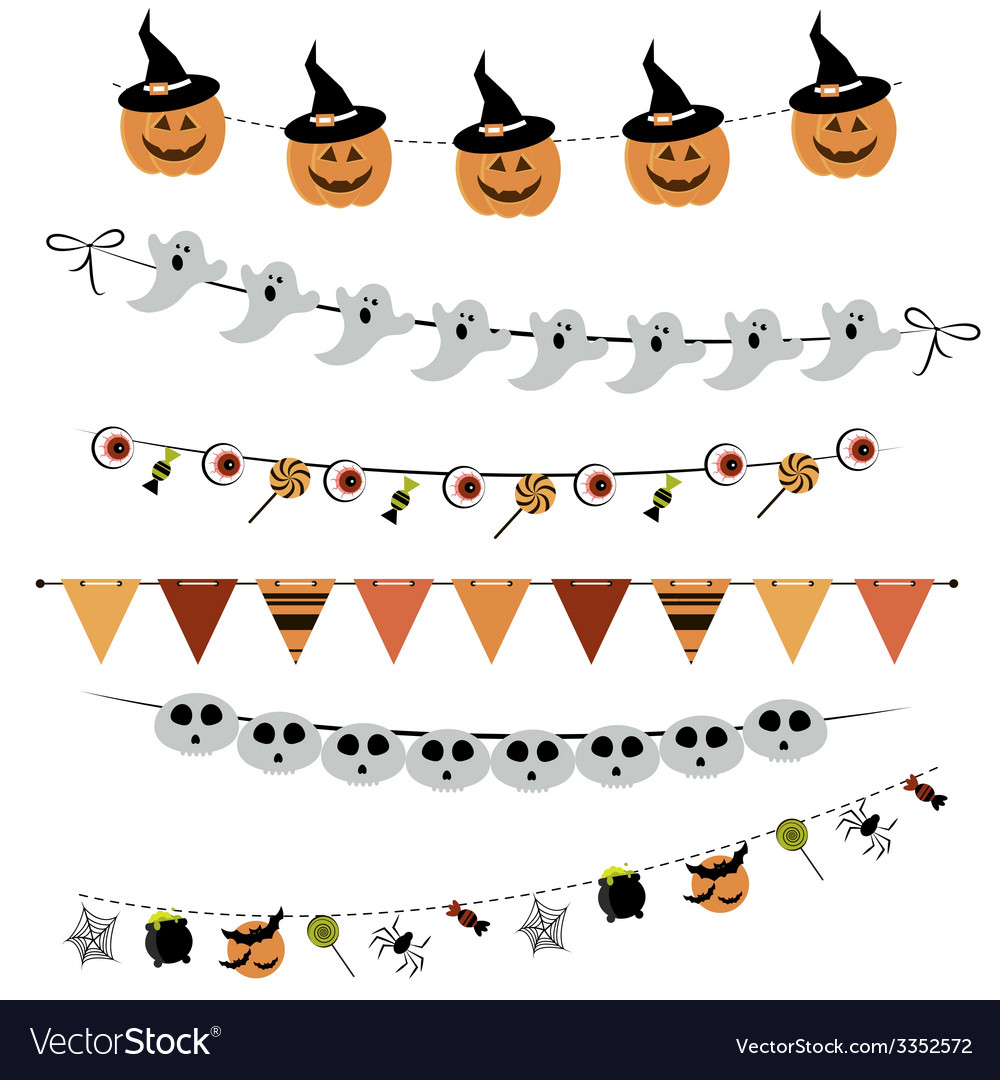 Halloween bunting and garland vector | Price: 1 Credit (USD $1)