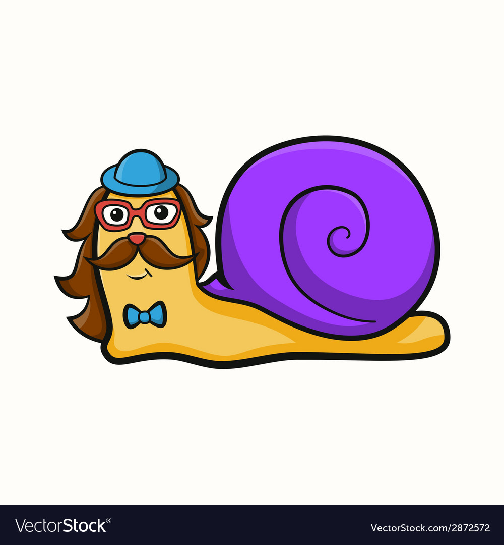 Hipster snail vector | Price: 1 Credit (USD $1)