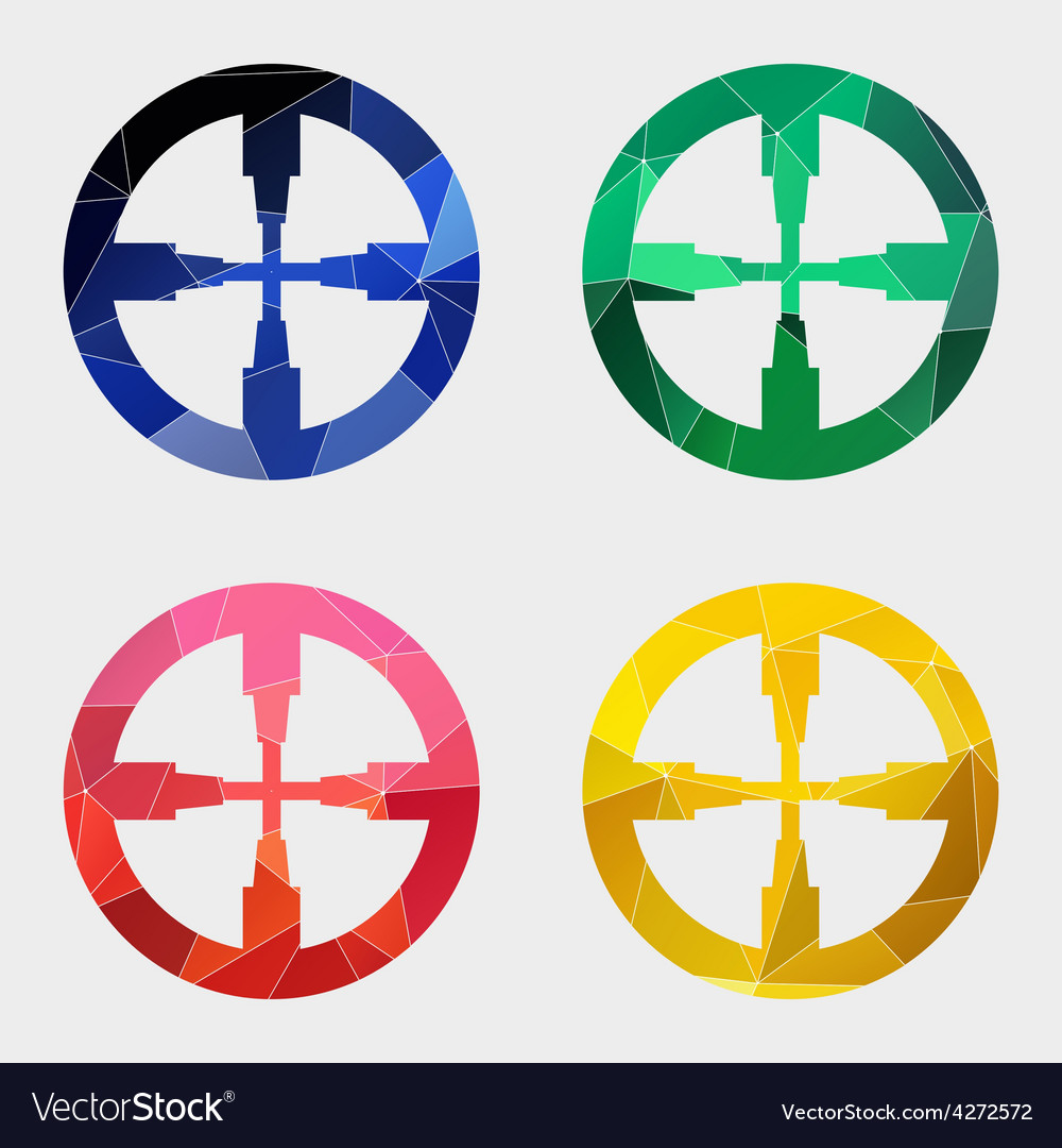 Optical sight icon abstract triangle vector | Price: 1 Credit (USD $1)