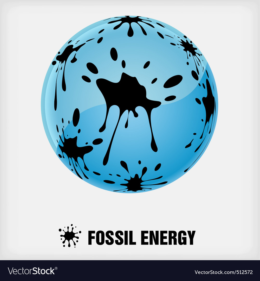 Recycle symbol fossil energy vector | Price: 1 Credit (USD $1)