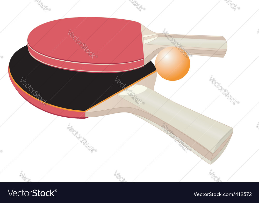 Table tennis rackets vector | Price: 3 Credit (USD $3)