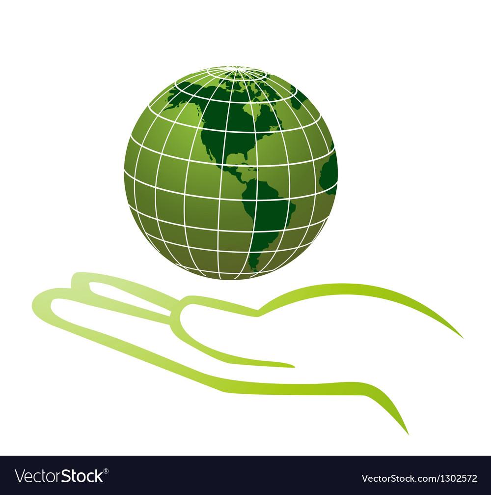 World in hands vector | Price: 1 Credit (USD $1)