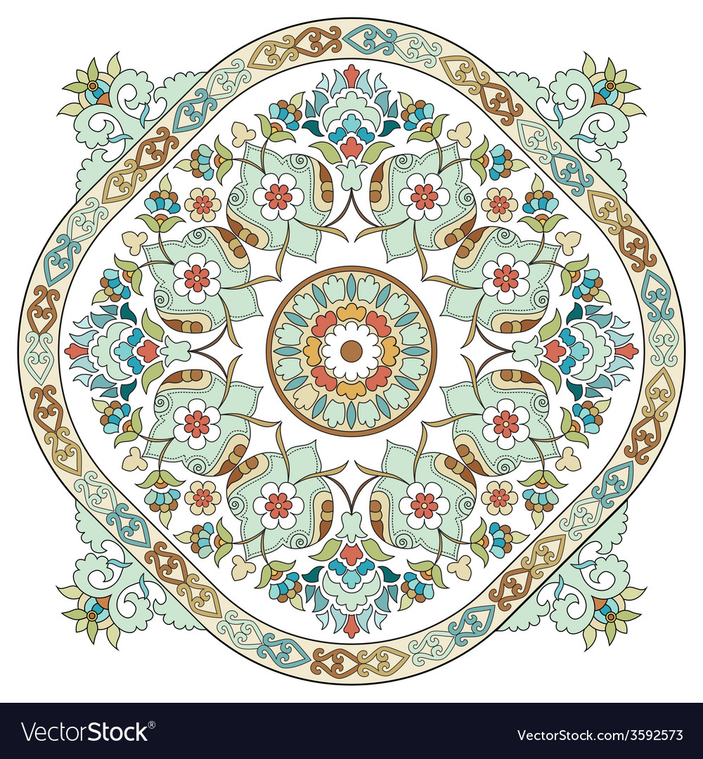 Artistic ottoman pattern series three vector | Price: 1 Credit (USD $1)