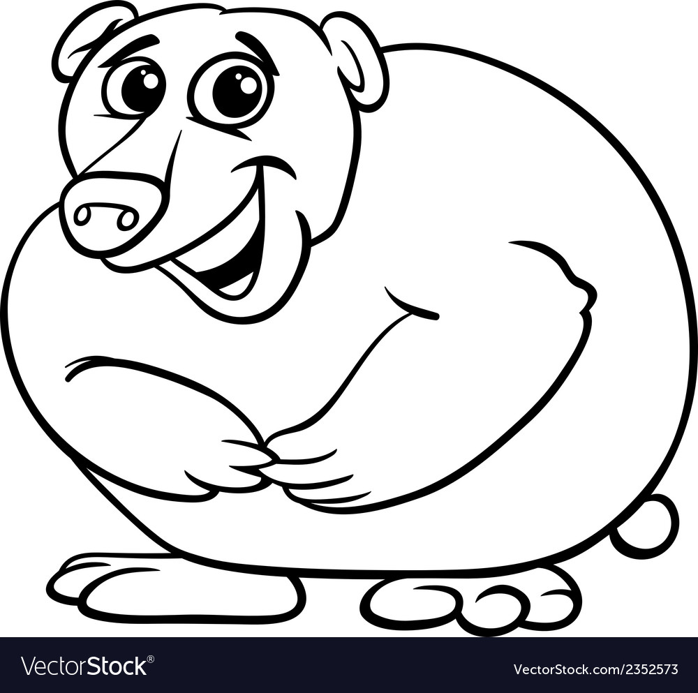 Bear animal cartoon coloring book vector | Price: 1 Credit (USD $1)
