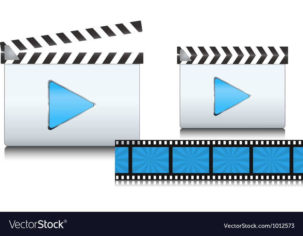 Clapboard icon vector | Price: 3 Credit (USD $3)