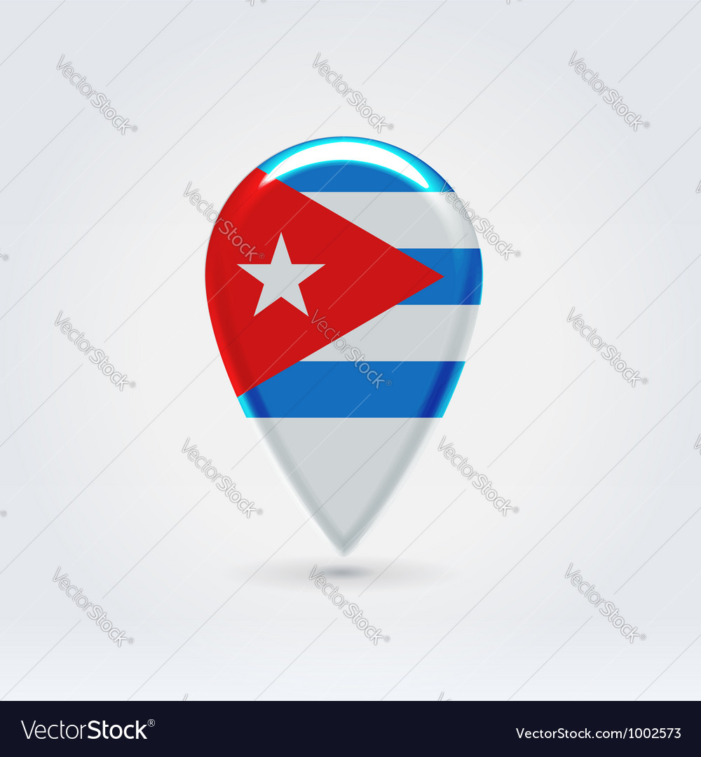 Cuban icon point for map vector | Price:  Credit (USD $)