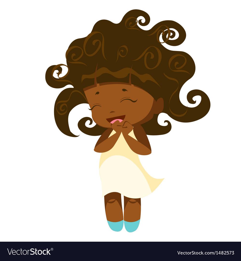 Kawaii afro princess vector | Price: 3 Credit (USD $3)