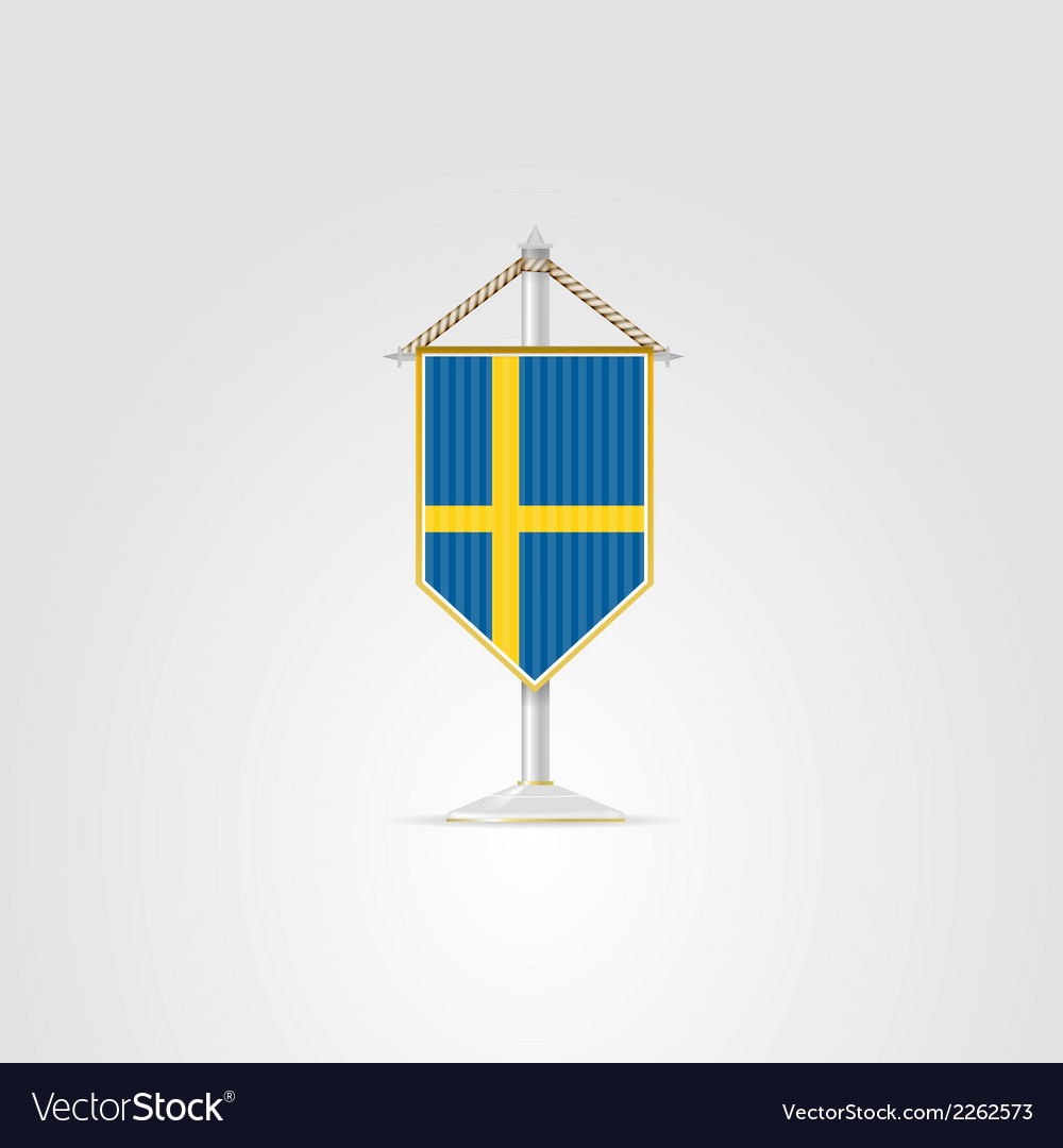 National symbols of european countries sweden vector | Price: 1 Credit (USD $1)