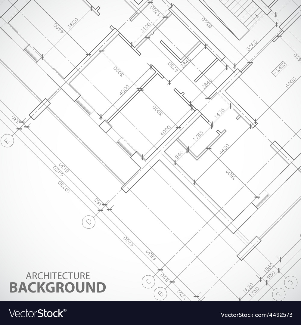New black architecture plan vector | Price: 1 Credit (USD $1)