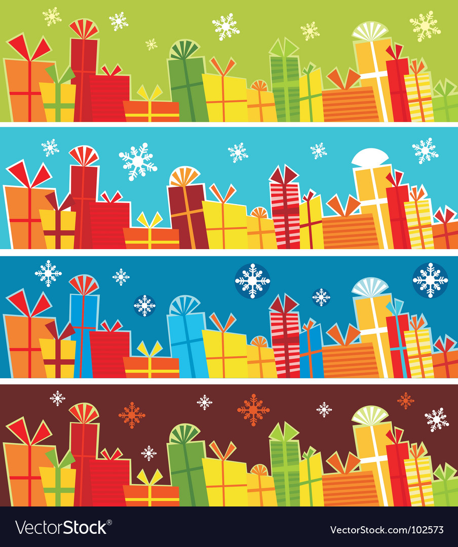 Present banners vector | Price: 1 Credit (USD $1)