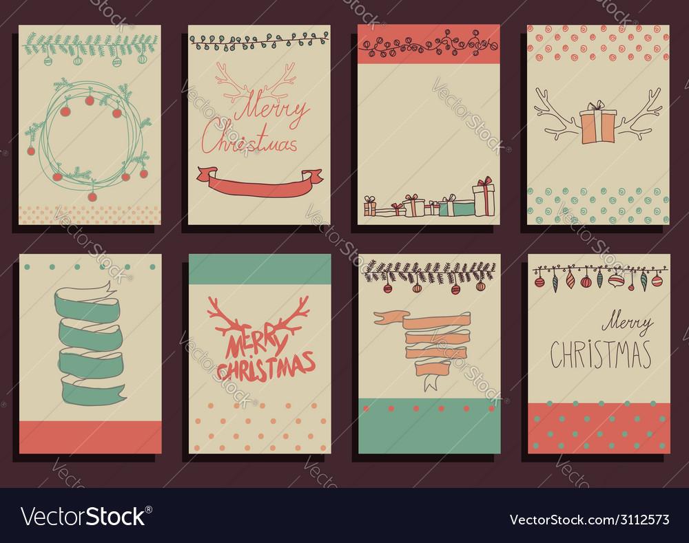 Set christmas calligraphic design elements vector | Price: 1 Credit (USD $1)