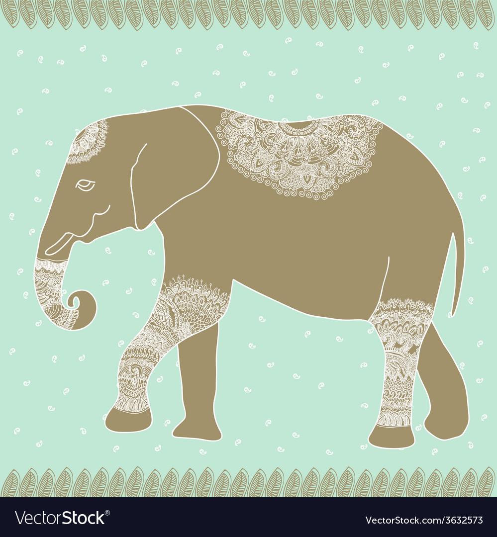Tender elephant vector | Price: 1 Credit (USD $1)