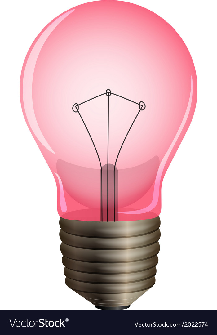 A pink light bulb vector | Price: 1 Credit (USD $1)