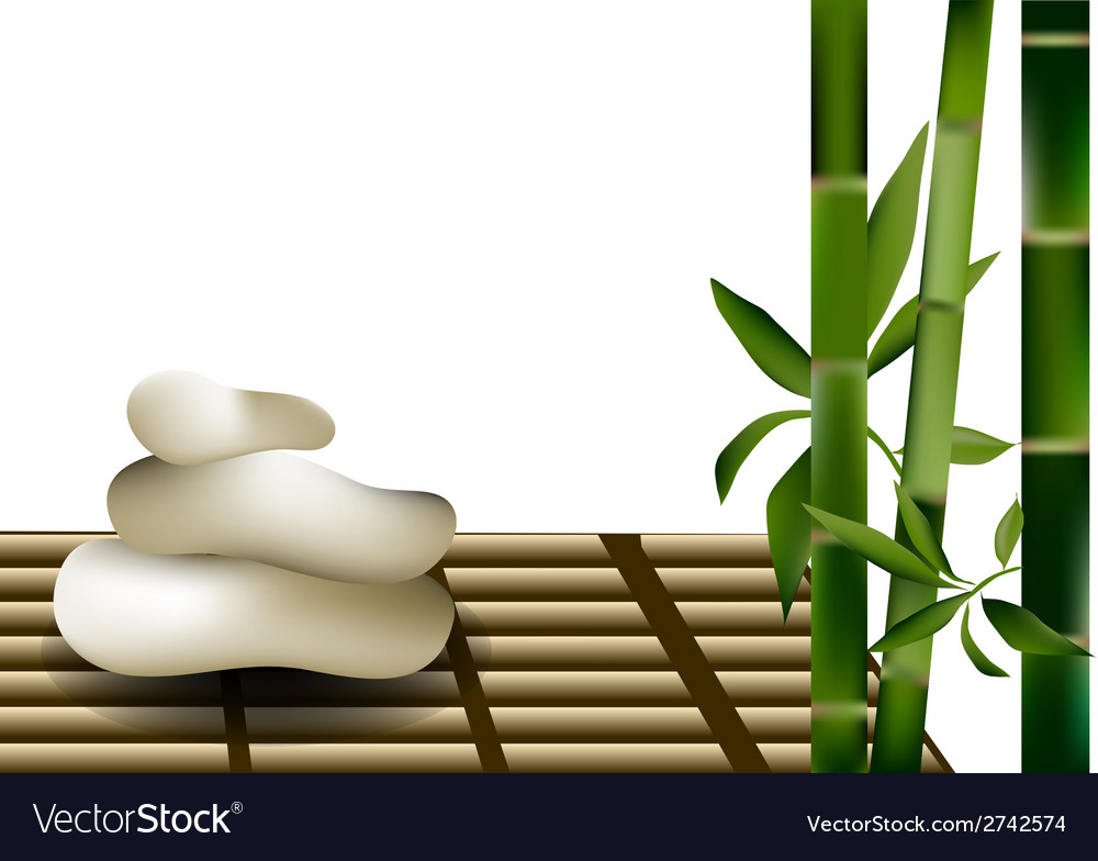 Bamboo and stones vector | Price: 1 Credit (USD $1)