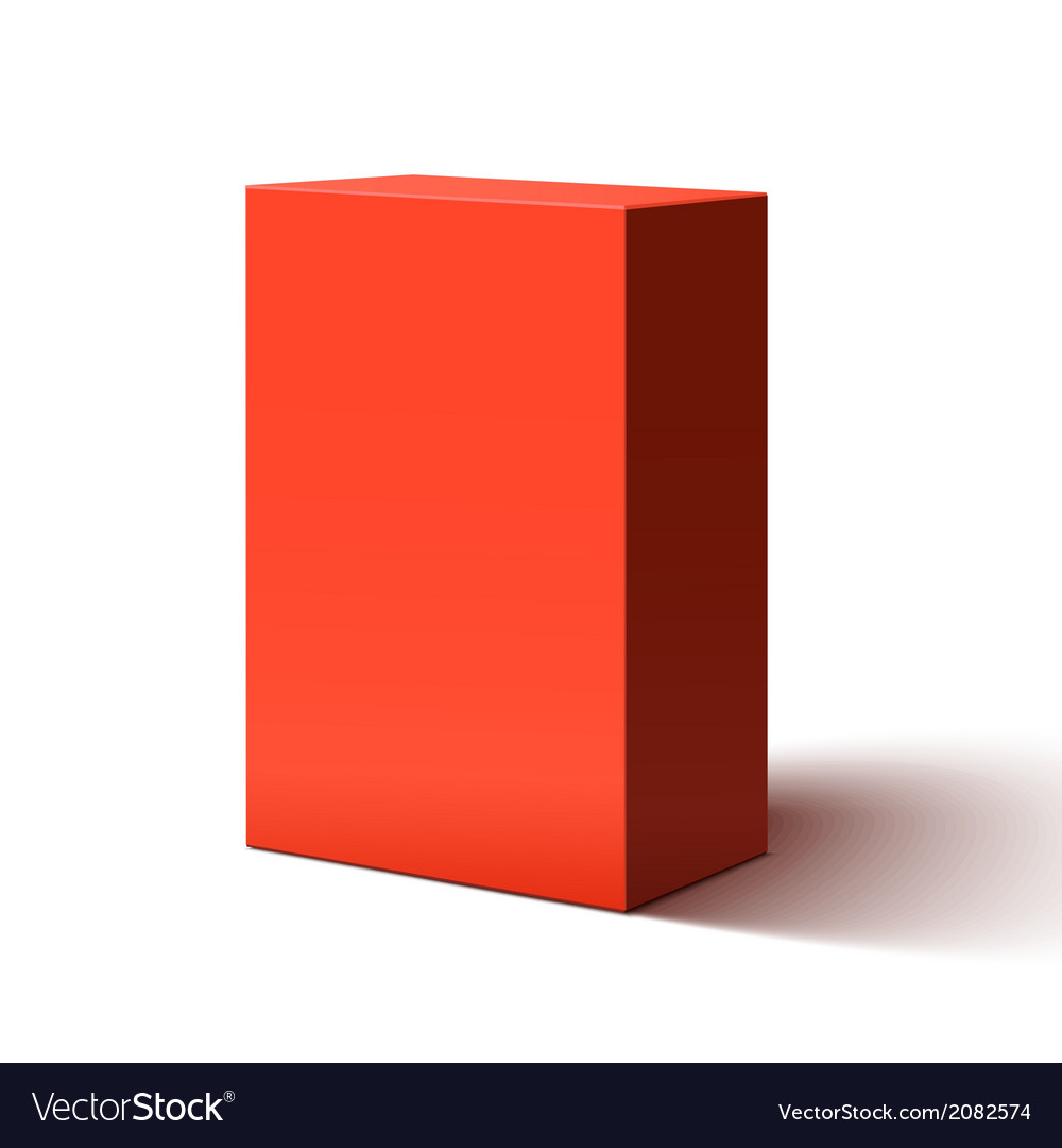 Blank red box vector | Price: 1 Credit (USD $1)